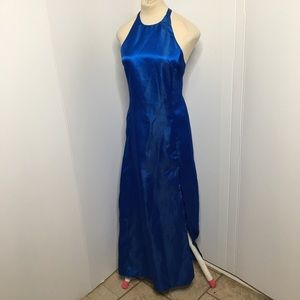 Royal Blue Satin Dress